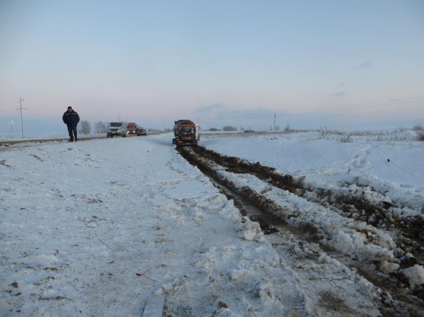 В Ташлинском районе в результате ДТП произошел разлив нефти на сельхозугодья